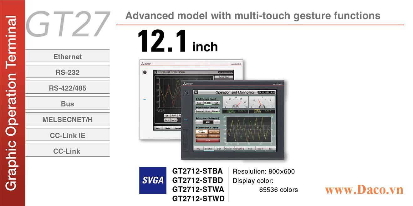 Màn hình cảm ứng Mitsubishi GT2712 HMI 12 Inch