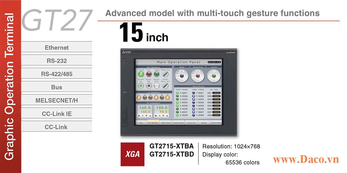 Màn hình cảm ứng Mitsubishi GT2715 HMI 15 Inch