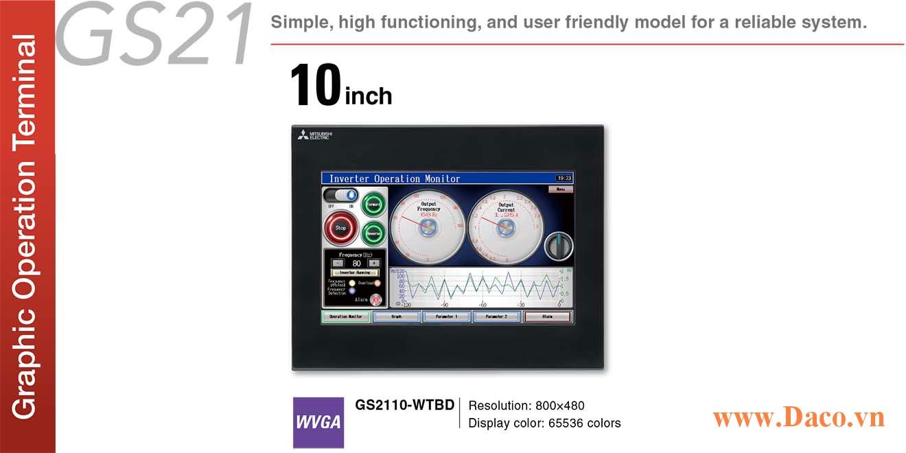 Màn hình cảm ứng Mitsubishi GS2110 HMI 10 Inch