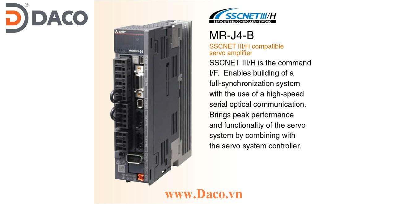 MR-J4-700B Bộ điều khiển Servo Driver Mitsubishi 7 kW 3 Pha 220 VAC SSCNET III/H