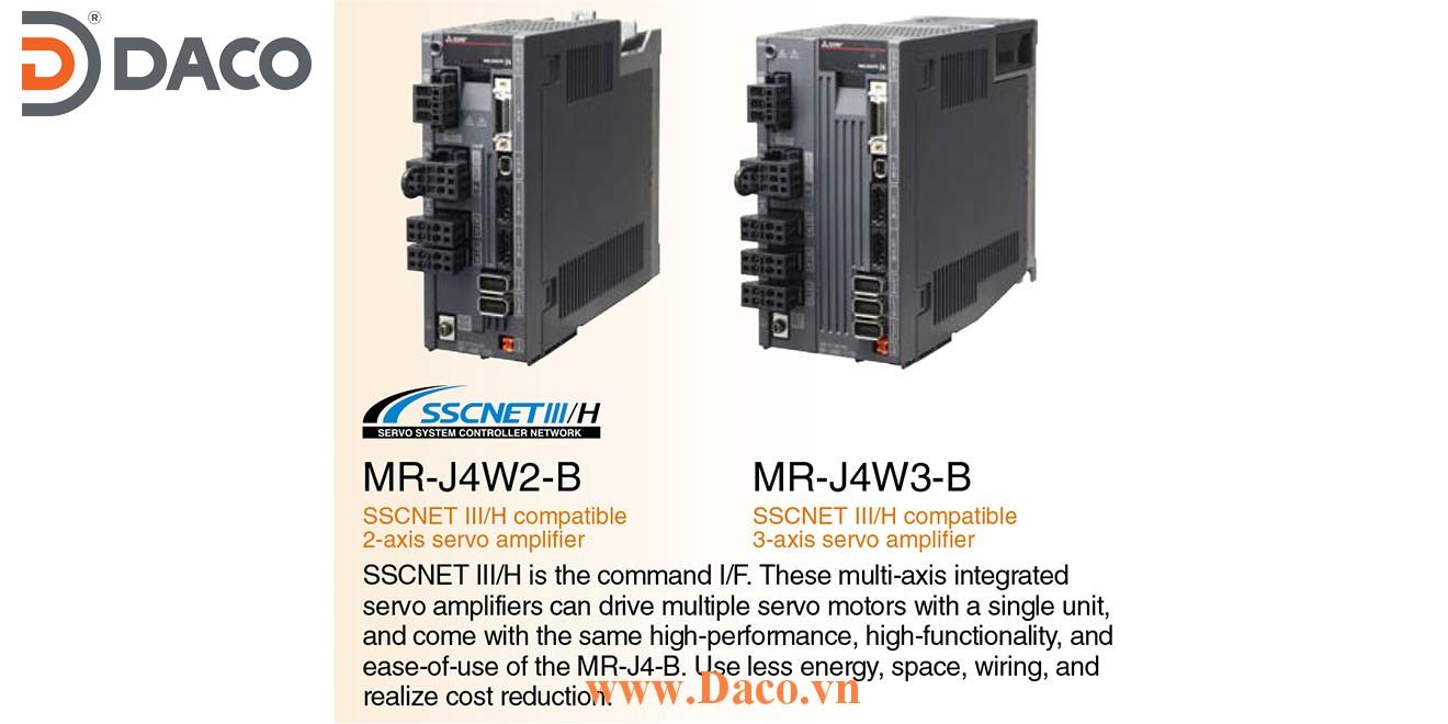 MR-J4W3-444B Bộ điều khiển Servo Driver Mitsubishi 0.4 kW 3 Pha hoặc 1 Pha 220 VAC SSCNET III/H