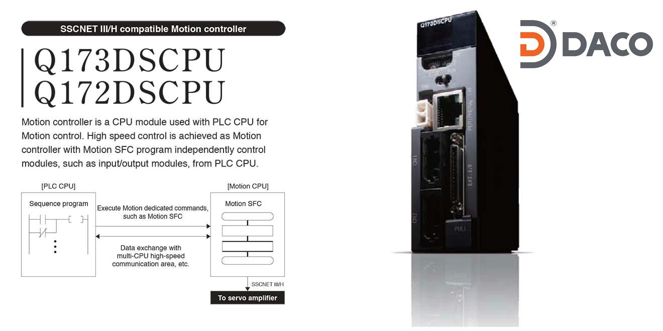 Q172DCPU-Q173DCPU Bộ điều khiển chuyển động Mitsubishi 8/32 trục SSCNET