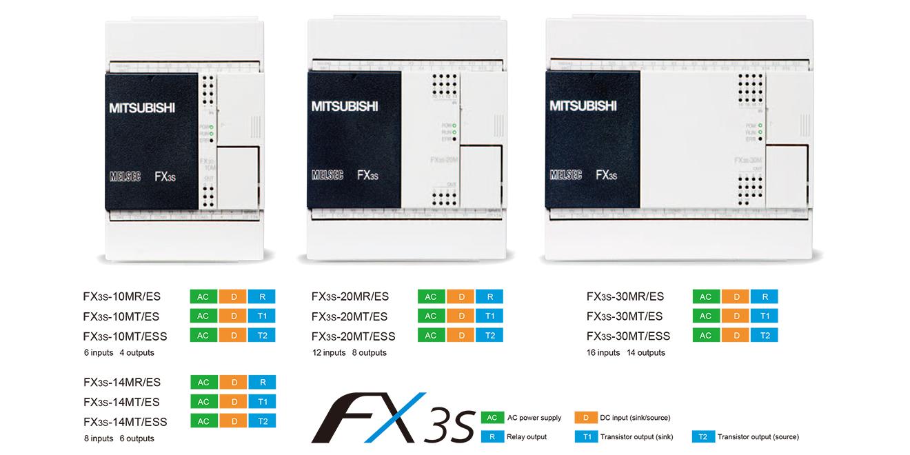 FX3S Bộ điều khiển lập trình PLC Mitsubishi