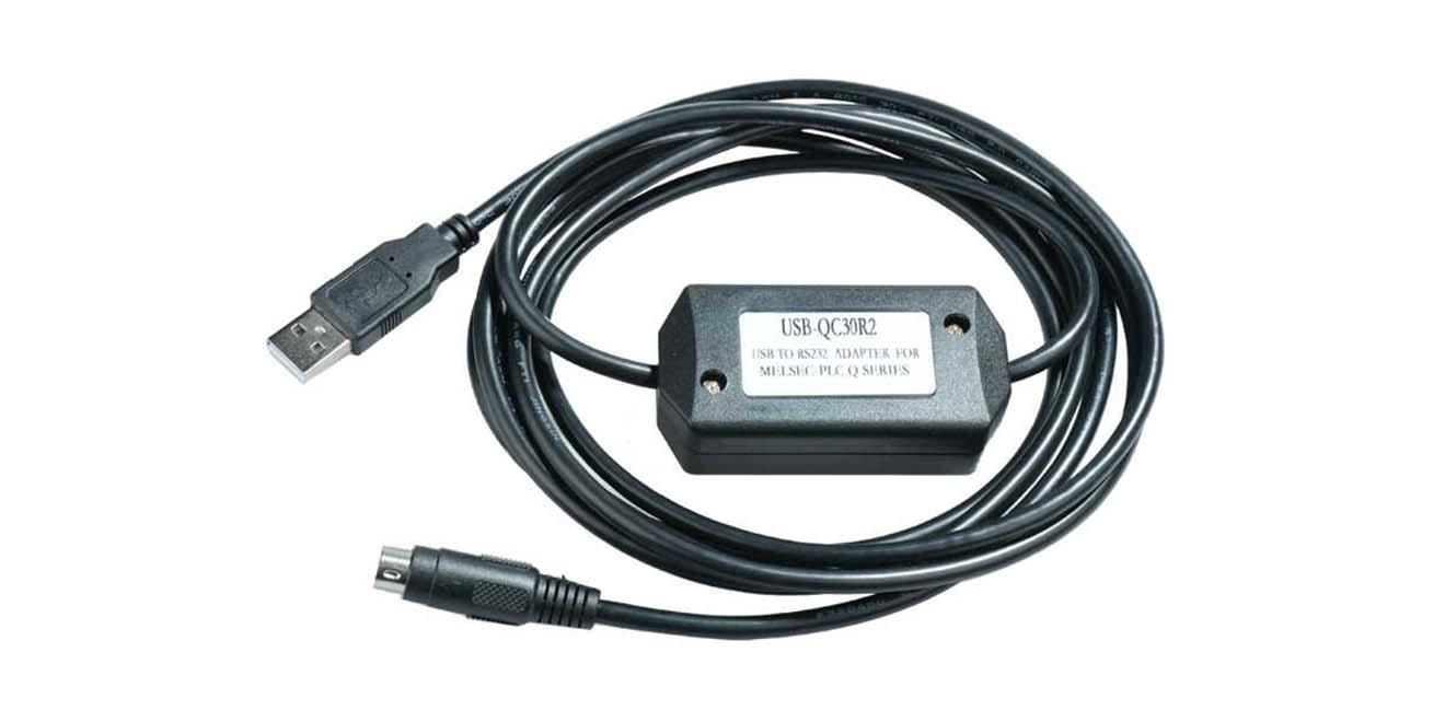USB-QC30R2 Cáp lập trình PLC Q Series Mitsubishi USB<->RS232