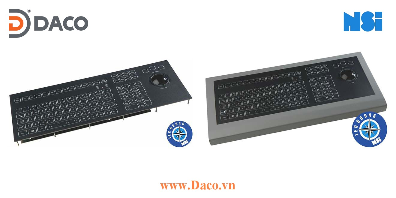 KSML106-MC1 Bàn phím công nghiệp hàng hải có đèn nền NSI, Bi xoay