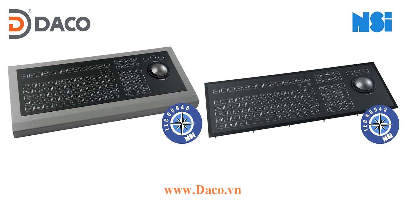 KSMX106-MC1 Bàn phím ECS công nghiệp hàng hải NSI, Bi xoay
