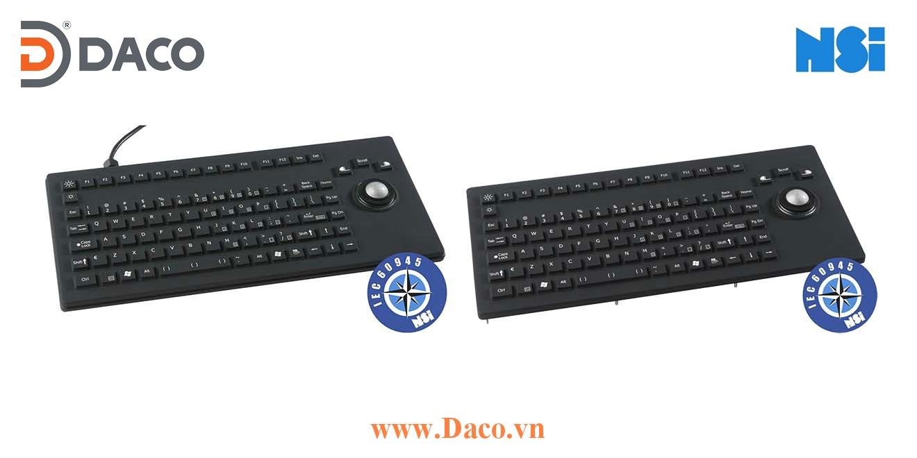 RKCT92-MC1 Bàn phím cao su silicon công nghiệp hàng hải NSI, Bi xoay