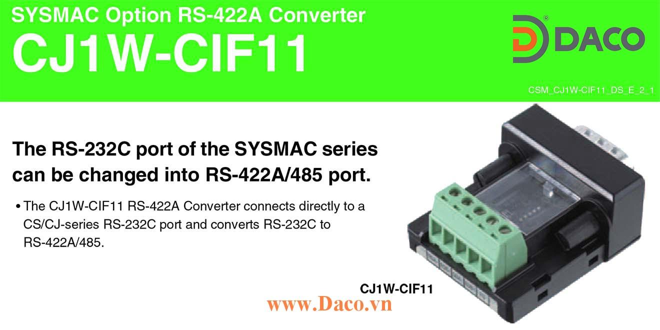 CJ1W-CIF11 Card module chuyển đổi truyền thông RS232 sang RS422/RS485