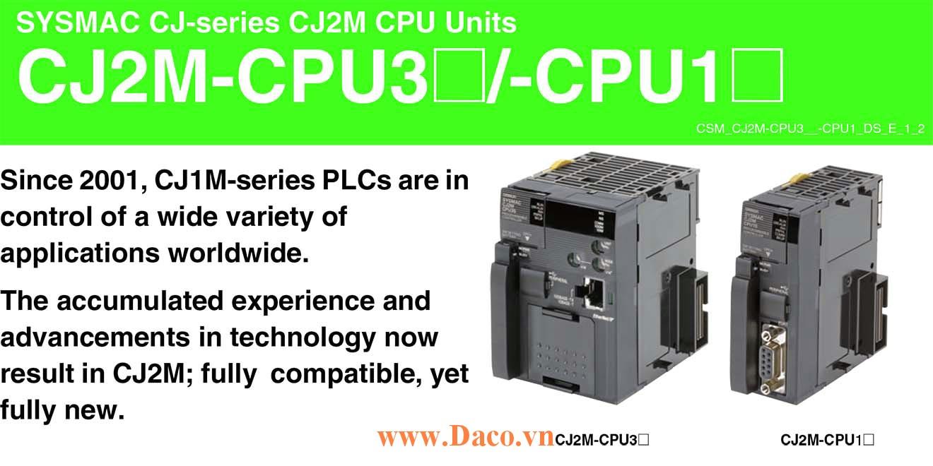 CJ2M-CPU Bộ điều khiển lập trình PLC Omron