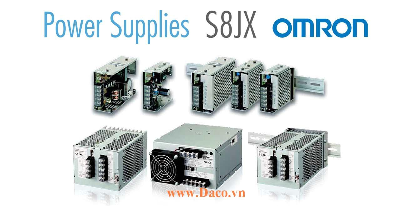 S8JX-G Bộ Chuyển Nguồn Omron, Điện áp Vào 100-240VAC, Ra 5, 12, 15, 24VDC, Công suất 15, 30, 50, 100, 150, 300, 600W