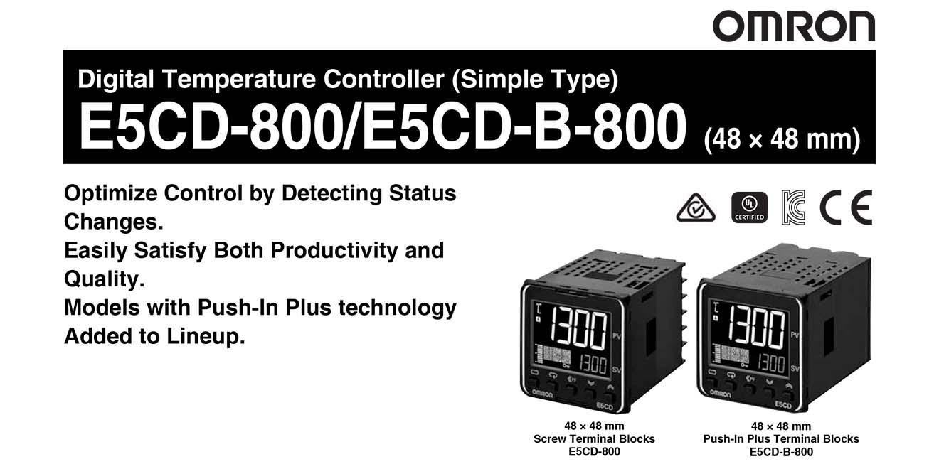E5CD Bộ điều khiển nhiệt độ Omron 48x48mm