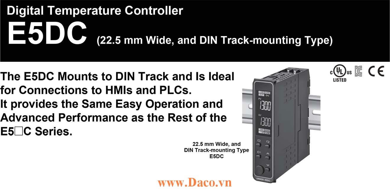 E5DC Module điều khiển nhiệt độ Omron 22.5x85 mm Gắn thanh DIN