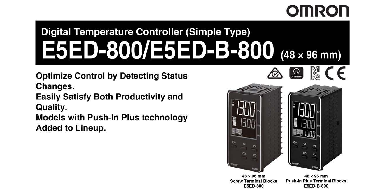 E5ED Bộ điều khiển nhiệt độ Omron 48x96mm