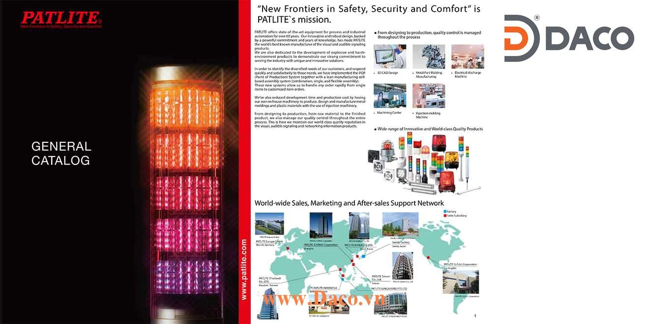 Patlite Catalogue Tài Liệu Đèn Loa Còi Báo Hiệu Patlite Nhật Bản