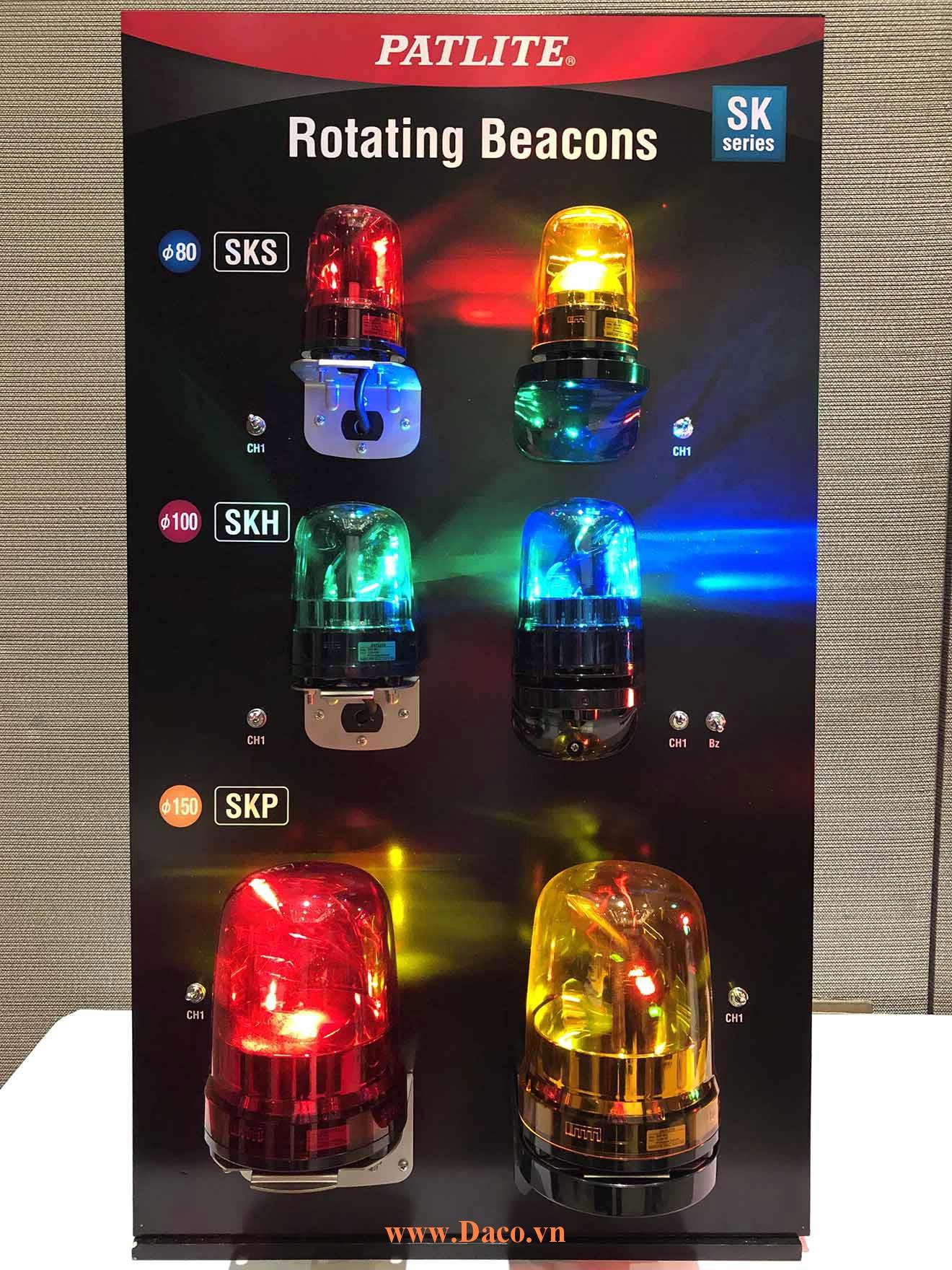 Hình ảnh thực tế sản phẩm đèn báo Patlite Quay Xoay SKS-SKH-SKP