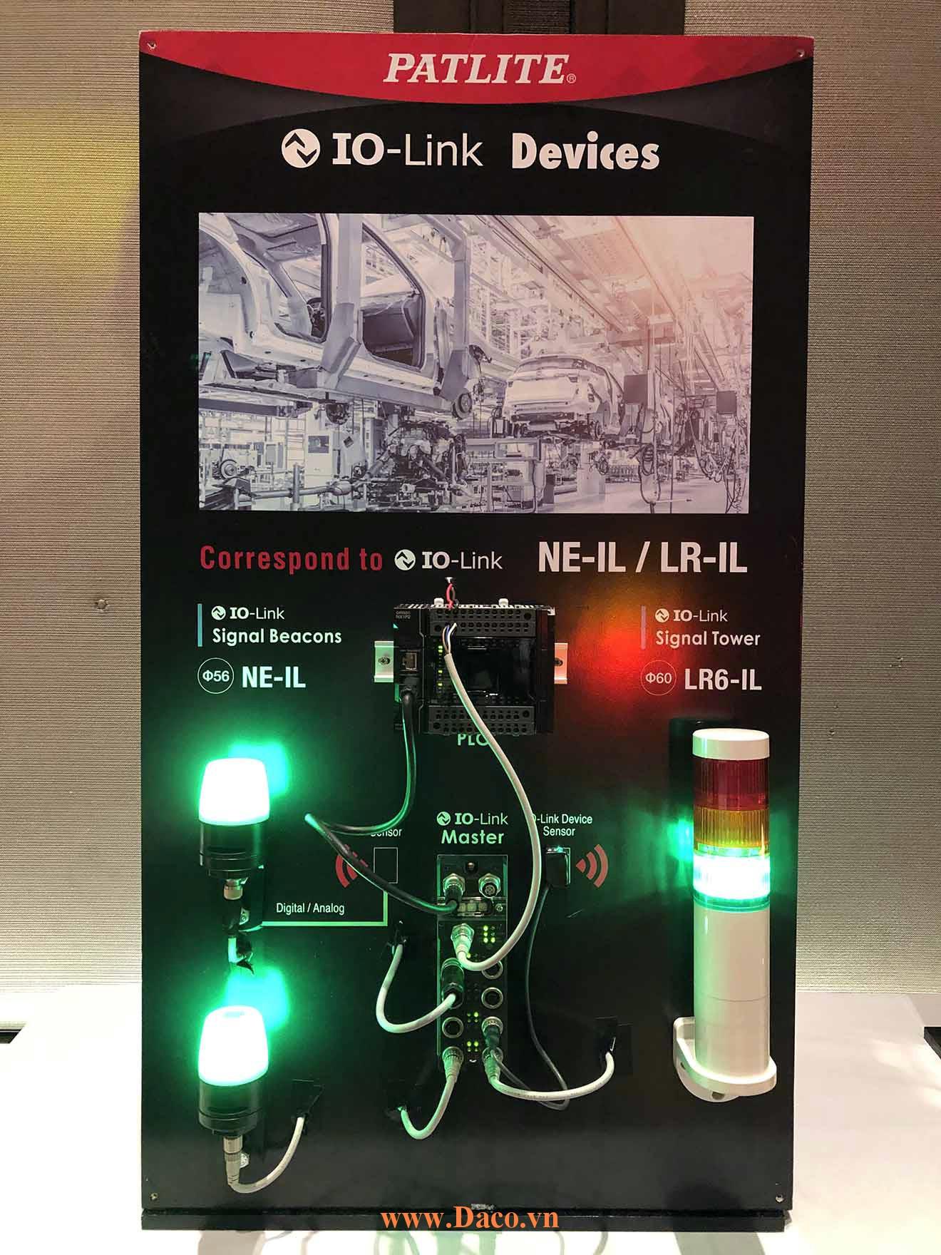 Hình ảnh thực tế sản phẩm đèn báo Patlite IoT NE-LR6-IL