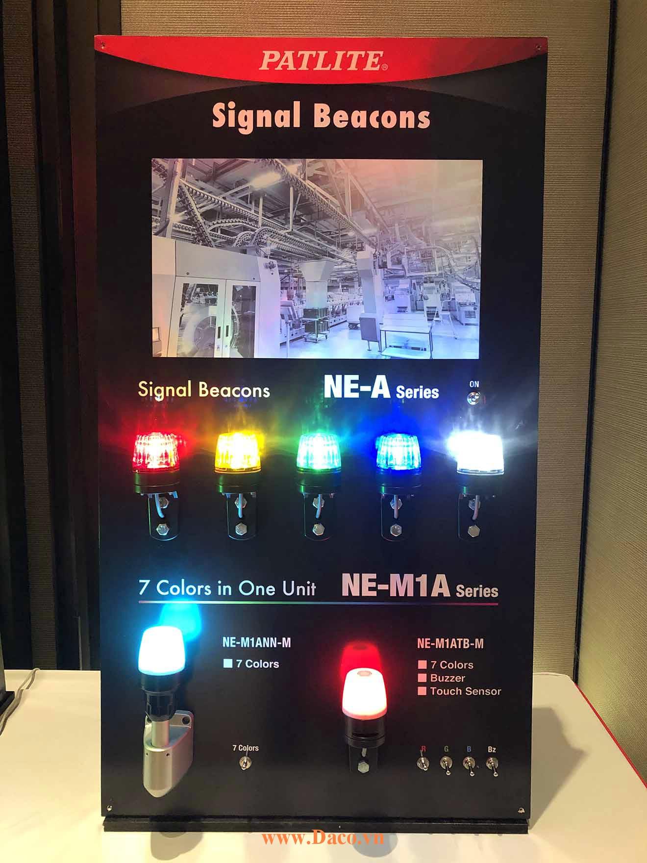 Hình ảnh thực tế sản phẩm đèn báo Patlite 7 màu NE-M1A