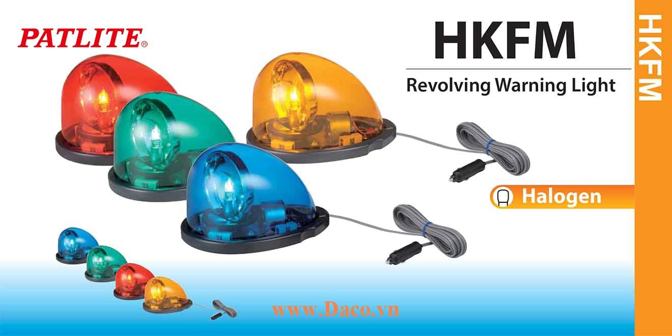 HKFM-102-R Đèn mai rùa giọt nước xe ưu tiên Patlite 180x122mm Bóng Halogen IP56