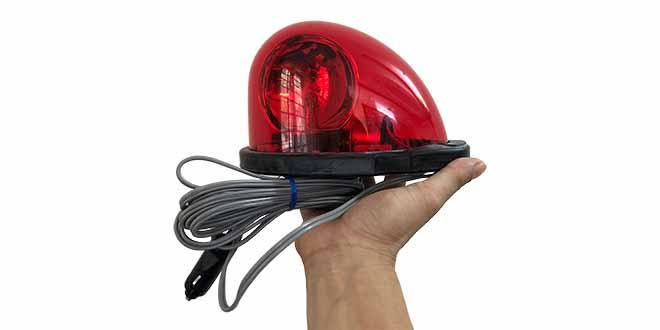 HKFM Hình ảnh thực tế Đèn quay chuyên dụng xe ưu tiên Nam châm hút dính, tẩu nguồn Patlite