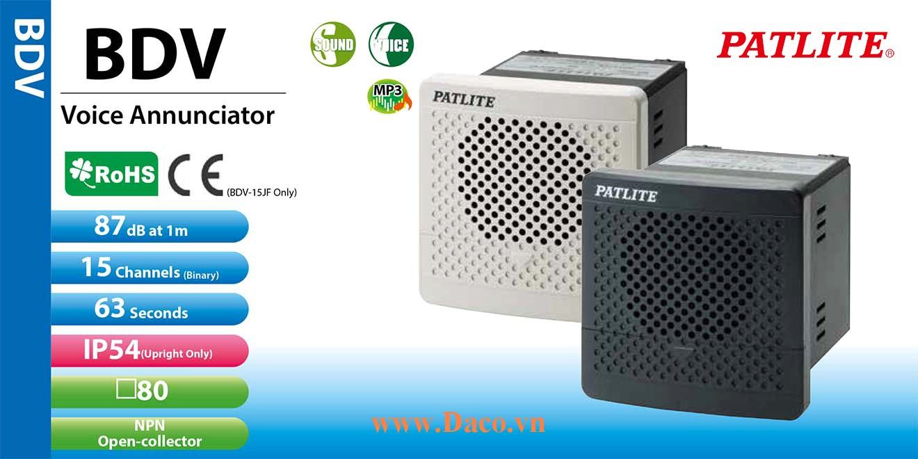 BDV-15KF-K Loa báo tín hiệu tủ điện âm MP3 Patlite 15 kênh thoại MP3 90dB IP54