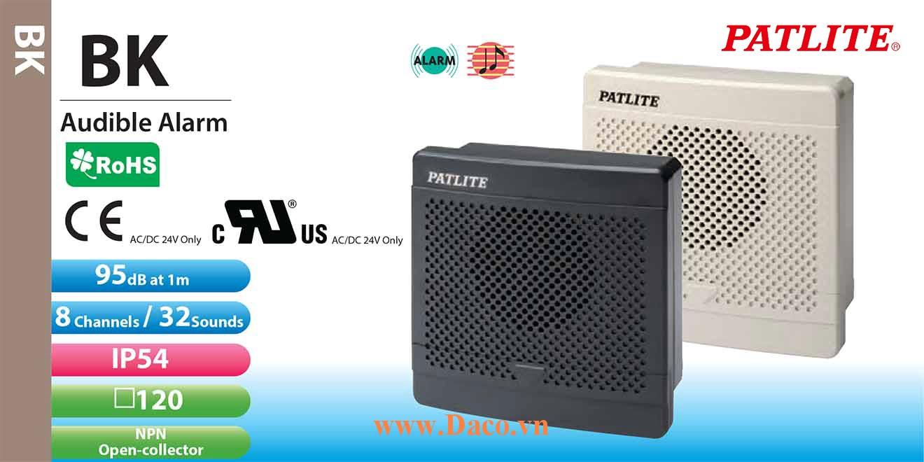 BK-220C-J Loa báo tín hiệu tủ điện âm MP3 Patlite 32 kênh âm thanh ghi sẵn 95dB IP54