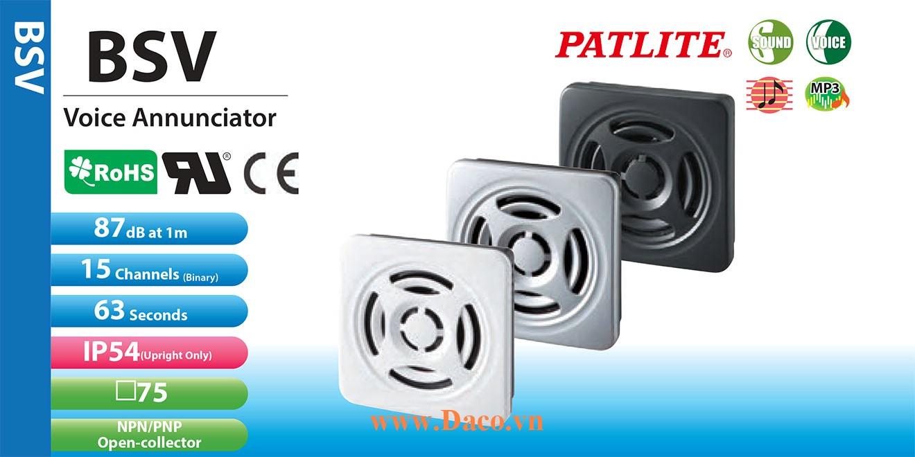 BSV-24PM-S Loa báo tín hiệu tủ điện âm MP3 Patlite 15 kênh 63s, 87dB IP54
