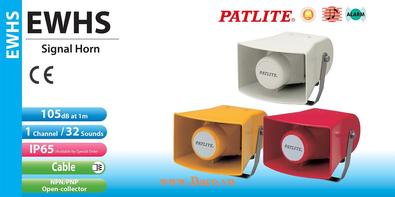 EWHS-48E-J Loa báo hiệu Patlite 32 âm 105dB IP53, IP65