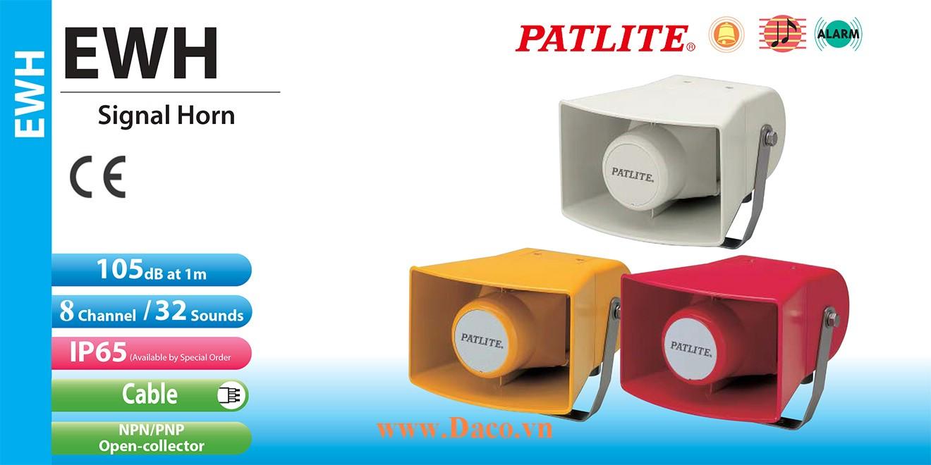 EWH-200D-R Loa báo hiệu Patlite 32 âm 105dB IP53, IP65
