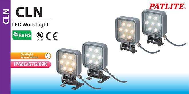 CLN-24-CD-PT Đèn LED chiếu sáng máy công cụ chống dầu Patlite Bóng LED Dài Vuông 85mm IP66G/67G/69K