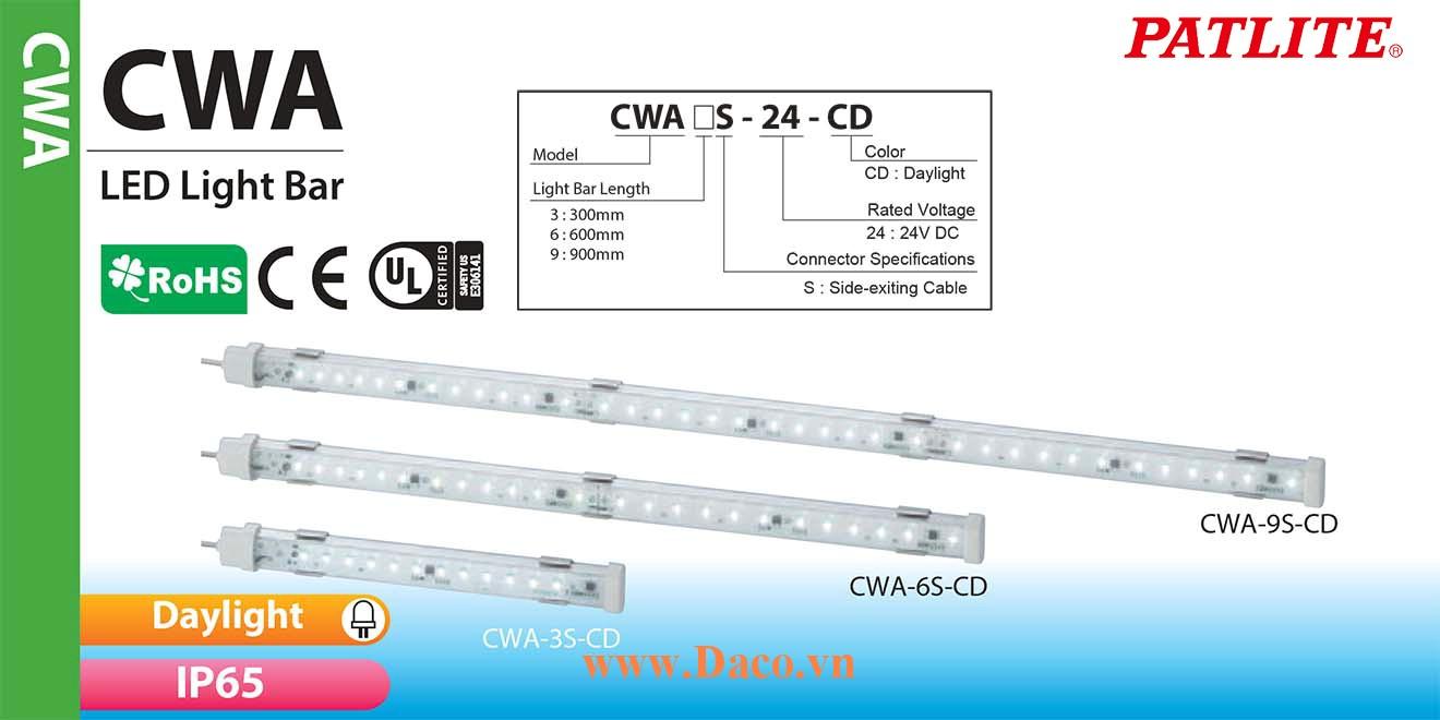 CWA9S-9S-24-CD Đèn LED chiếu sáng tủ điện Patlite Bóng LED Dài 900mm IP65