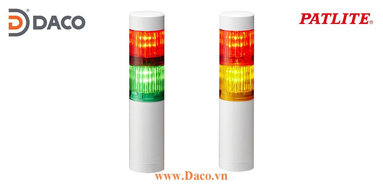 LR4-202WCNW-RG Đèn tháp cảnh báo Patlite Φ40 Bóng LED 2 tầng, IP65