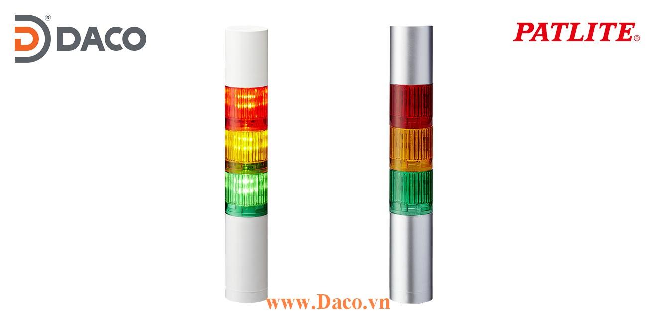 LR4-302WCBW-RYG Đèn báo hiệu tháp Patlite Φ40 Bóng LED 3 tầng Còi Buzzer 85dB IP65