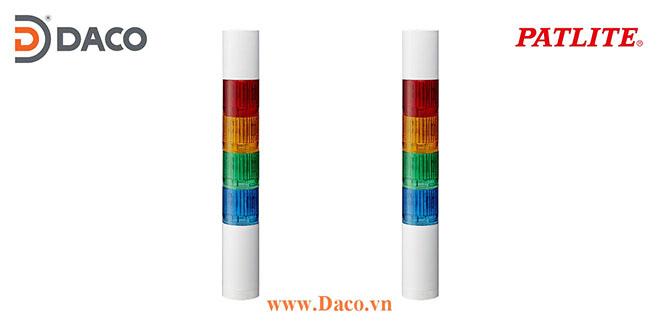 LR4-4M2WJNW-RYGC Patlite Đèn tháp báo hiệu Φ40 Bóng LED 4 tầng IP65