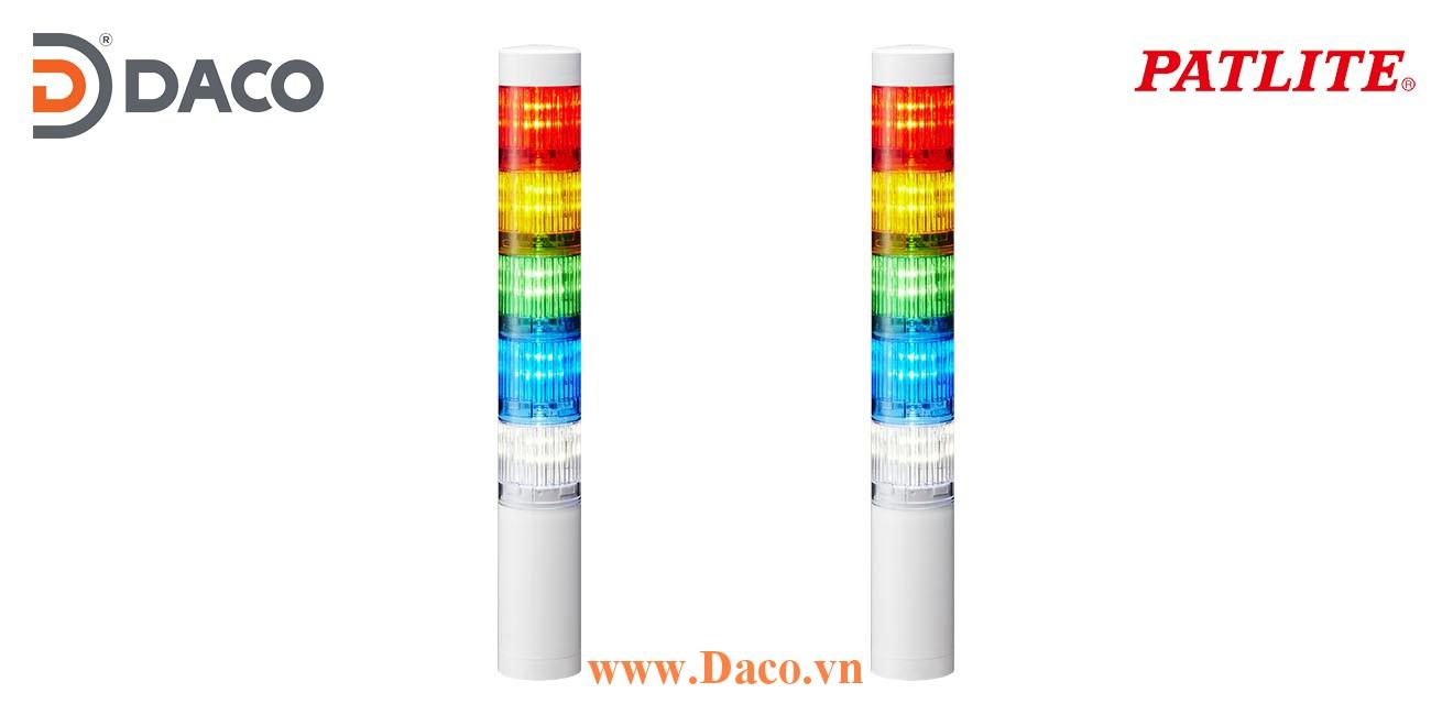 LR4-502WCNW-RYGBC Đèn báo tháp Patlite Φ40 Bóng LED 5 tầng IP65