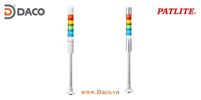 LR4-5M2PJBW-RYGBC Đèn báo hiệu tháp Patlite Φ40 Bóng LED 5 tầng Còi Buzzer 85dB IP65