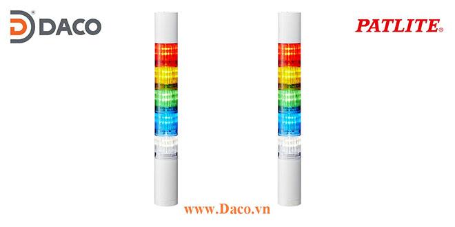 LR4-5M2WJNW-RYGBC Đèn báo hiệu tháp Patlite Φ40 Bóng LED 5 tầng IP65