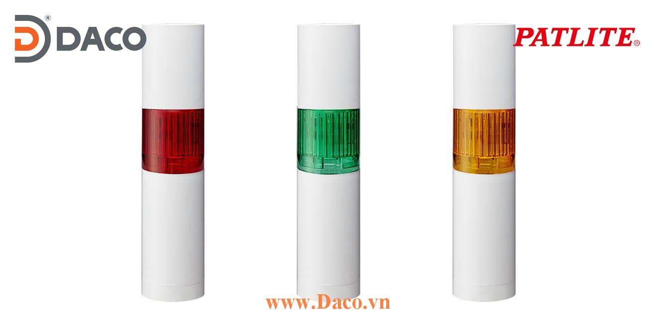 LR5-102WJBW-R Đèn báo tháp Patlite Φ50 Bóng LED 1 tầng Còi Buzzer 85dB IP65