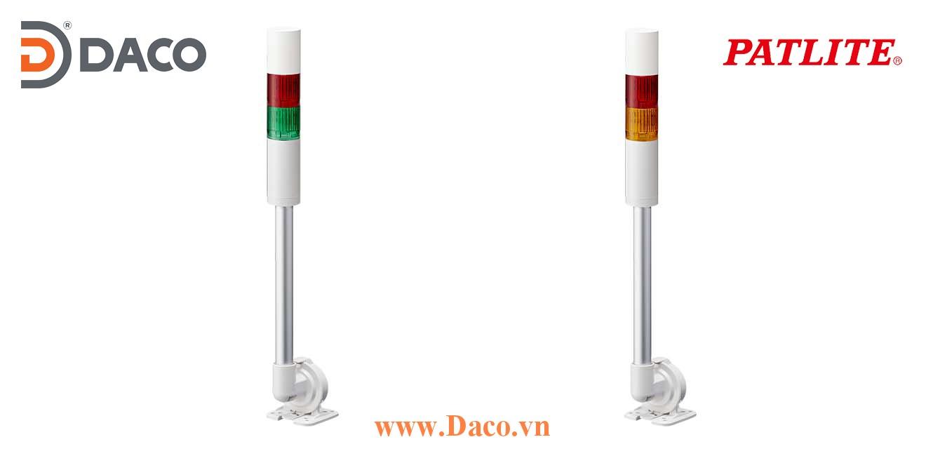 LR5-202QJBW-YG Đèn báo tháp Patlite Φ50 Bóng LED 2 tầng Còi Buzzer 85dB IP65
