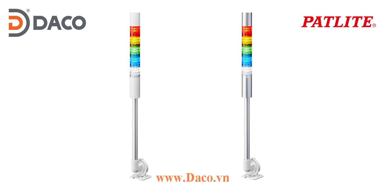 LR5-502QJBW-RYGBC Đèn tháp Patlite Φ50 Bóng LED 5 tầng Còi Buzzer 85dB IP65