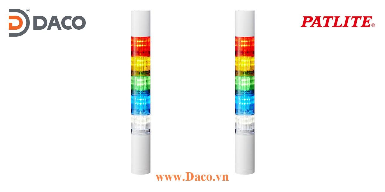 LR5-502WJBW-RYGBC Đèn tháp Patlite Φ50 Bóng LED 5 tầng Còi Buzzer 85dB IP65