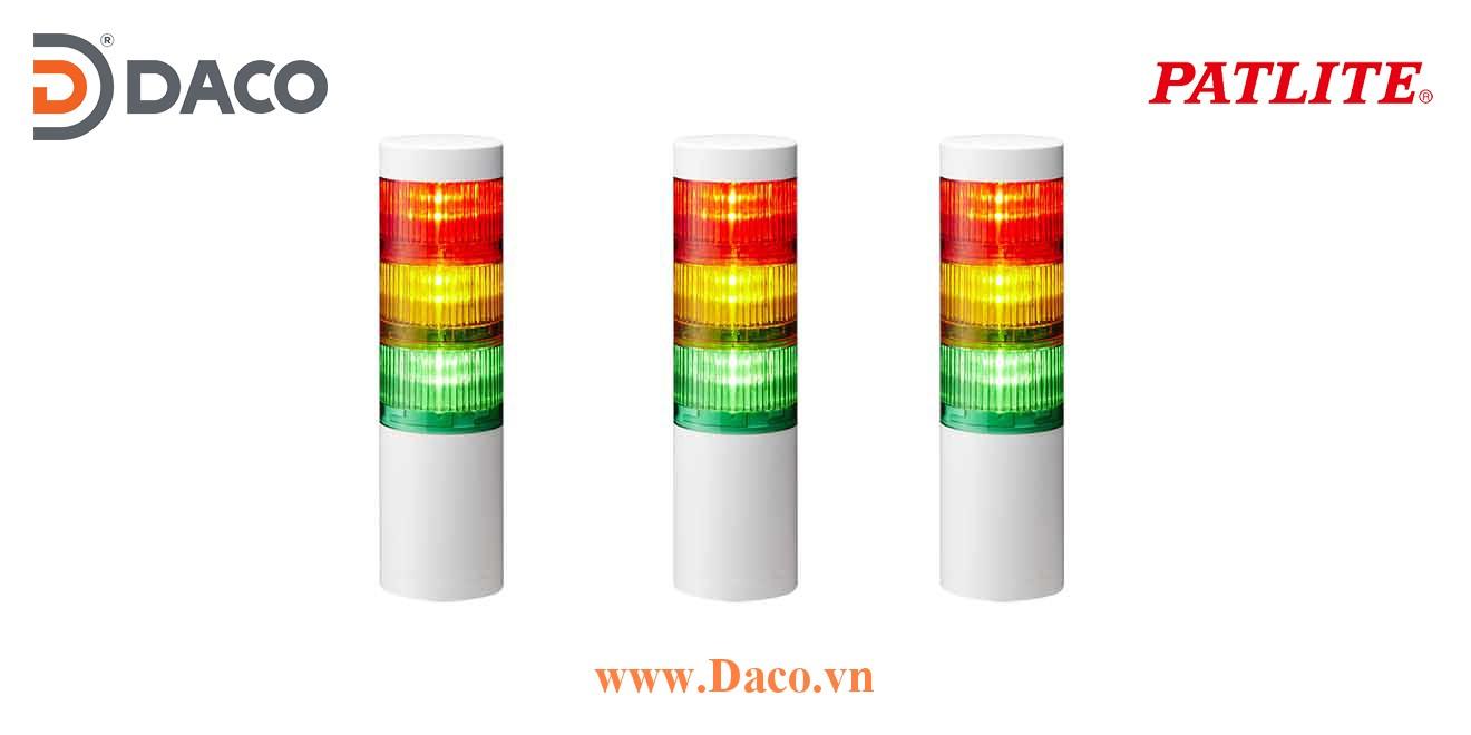 LR7-302WJNW-RYG Đèn tháp ghép module Patlite Φ70 Bóng LED 3 tầng IP65