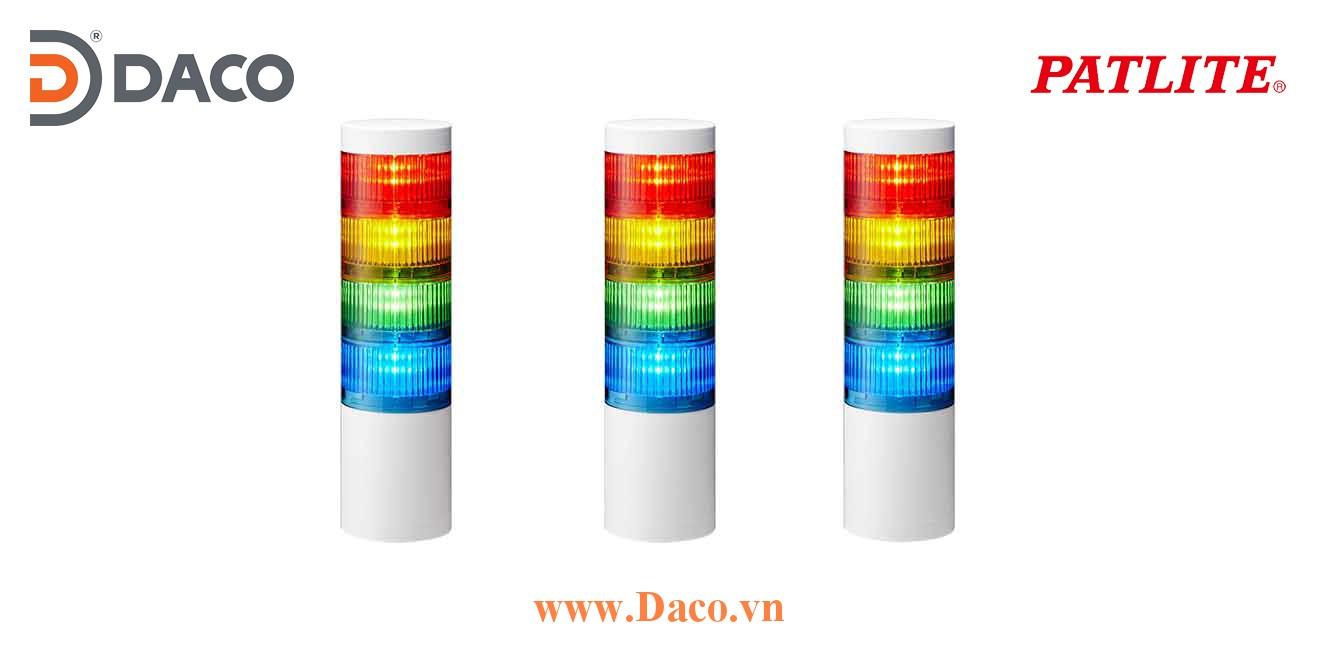 LR7-402WJNW-RYGB Đèn tháp ghép module Patlite Φ70 Bóng LED 4 tầng IP65