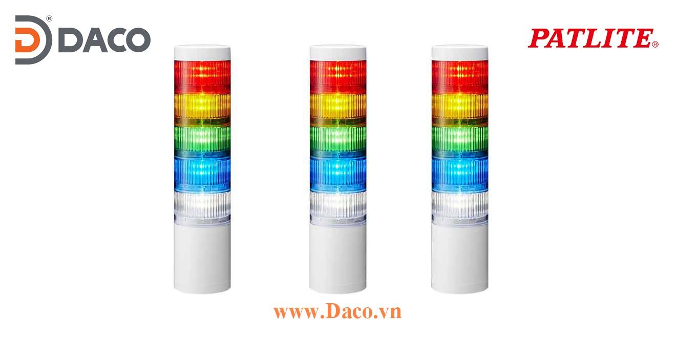 LR7-502WJNW-RYGBC Đèn tháp ghép module Patlite Φ70 Bóng LED 5 tầng IP65