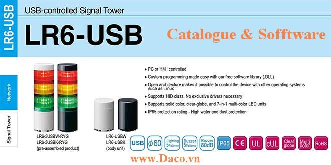 LR6-USB Catalogue Software - Tài liệu & Phần mềm lập trình đèn tháp USB Patlite