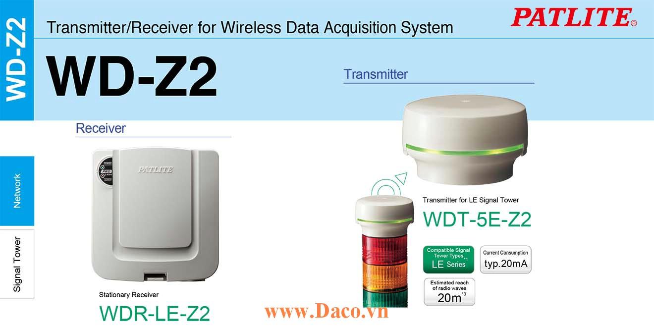 WDT-5E-Z2 Module phát tín hiệu không dây cho đèn tháp Patlite Φ50 Wifi Đèn tháp LE IP65