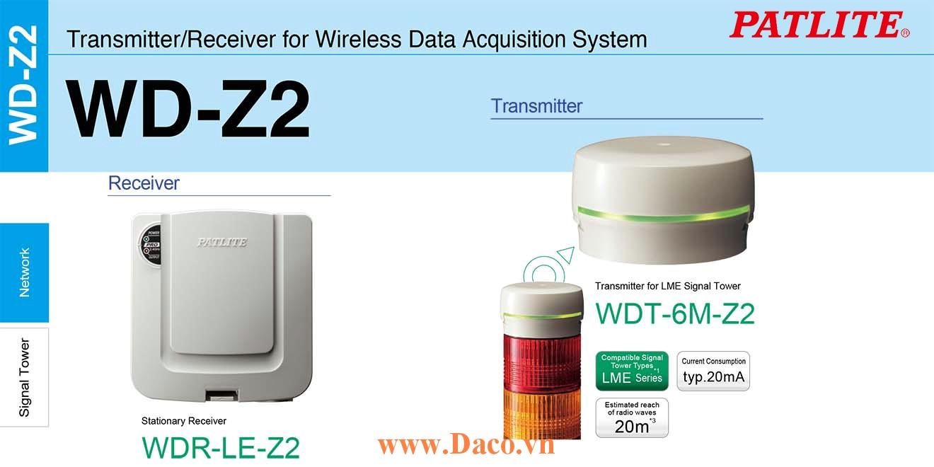 WDT-6M-Z2 Module phát tín hiệu không dây cho đèn tháp Patlite Φ60 Wifi Đèn tháp LME IP65