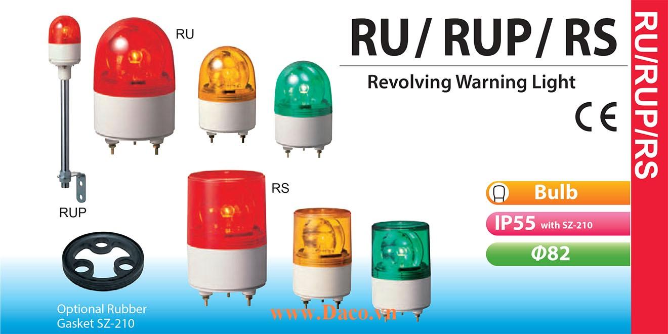 RU-24AC-R Đèn quay Patlite Φ82 Bóng Sợi đốt IP23