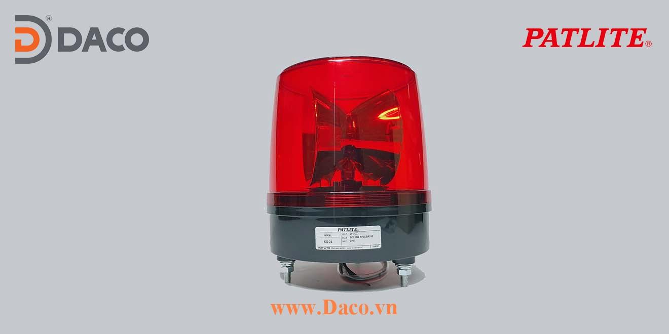 KG Hình ảnh thực tế Đèn Quay Xoay báo hiệu cảnh báo tín hiệu bóng sợi đốt Patlite 35W