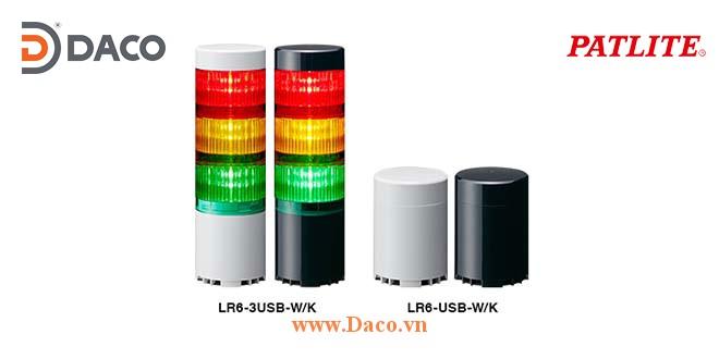 LR6-USB Hình ảnh thực tế Đèn tháp Điều khiển Bật/Tắt qua USB Φ60 Patlite