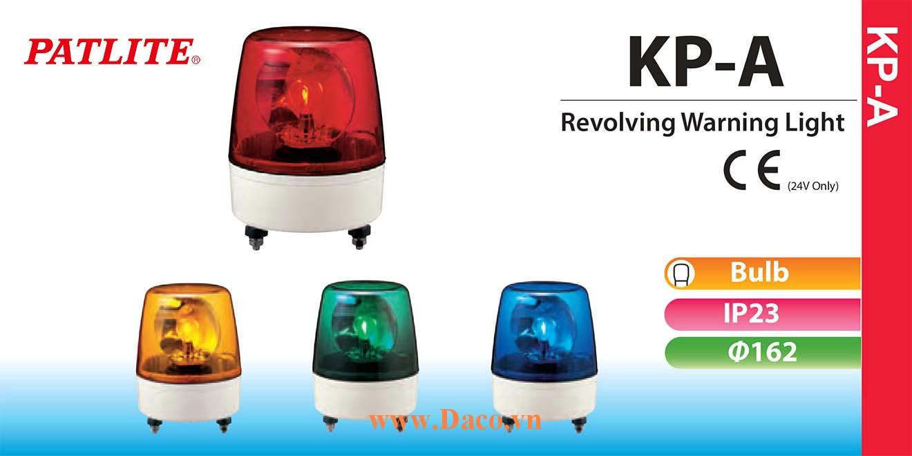 KP-200A-G Đèn quay báo hiệu Patlite Φ162 Bóng Sợi đốt chống rung IP23